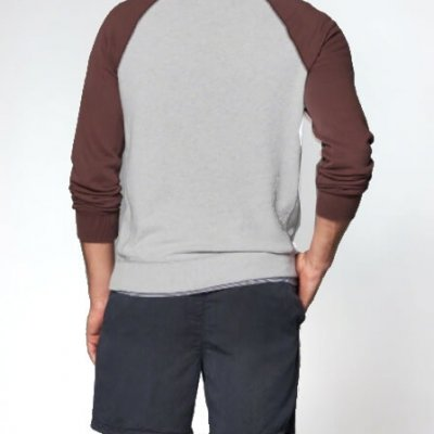 Grey and Red Sweatshirt Mens Sharkers®